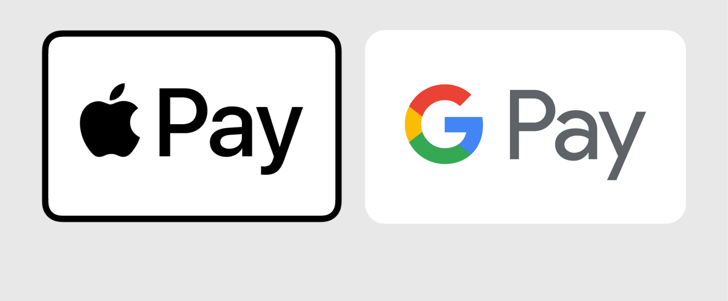 Apple Pay and Google Pay logos